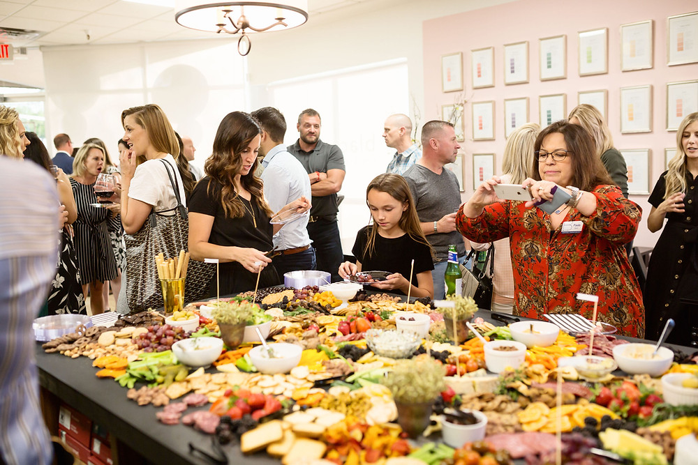 party, food, planning, party planning, charcuterie, veggies, fruit, meat, cheese, chocolate