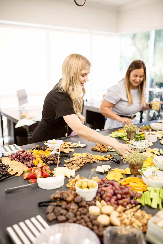 Prep, food, dessert, veggies, fruit, party, party planner