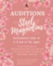 5x3 insta Steel Magnolias Audition Post.