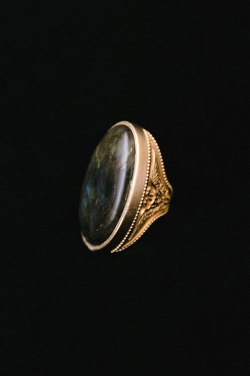 Magical labradorite ring
