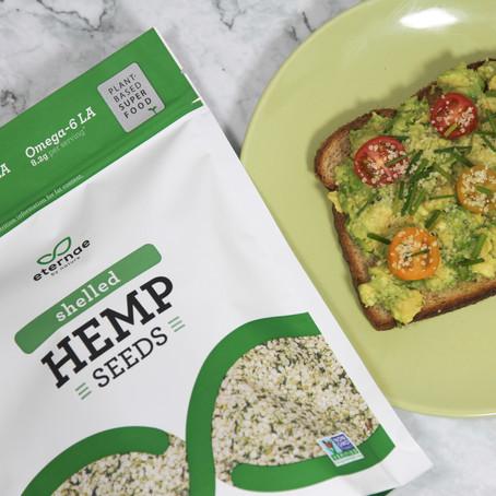Healthy Avocado Toast with Hemp Seeds