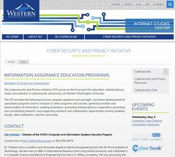 ISC Site Screenshot