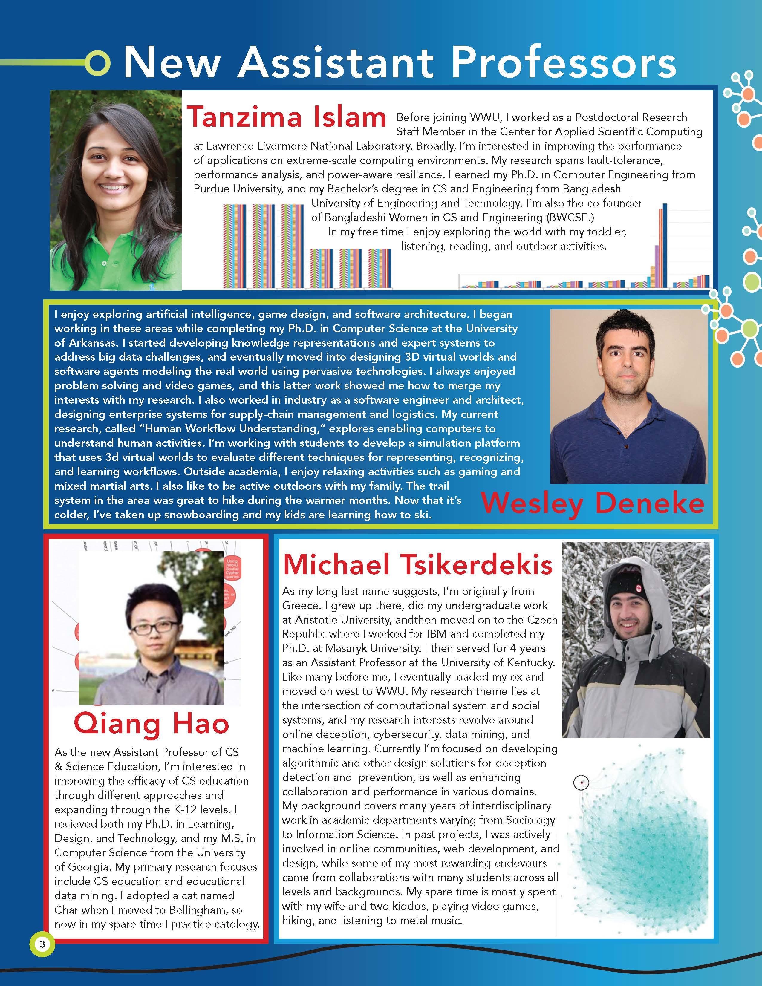 CS Newsletter 2018 New Faculty