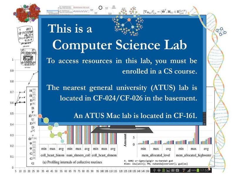 Computer Science Lab Signs