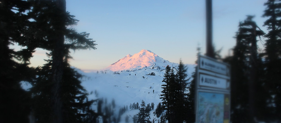 Sunrise Snowshoeing at Mount Baker