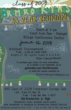 Bremerton High School Reunion Flier