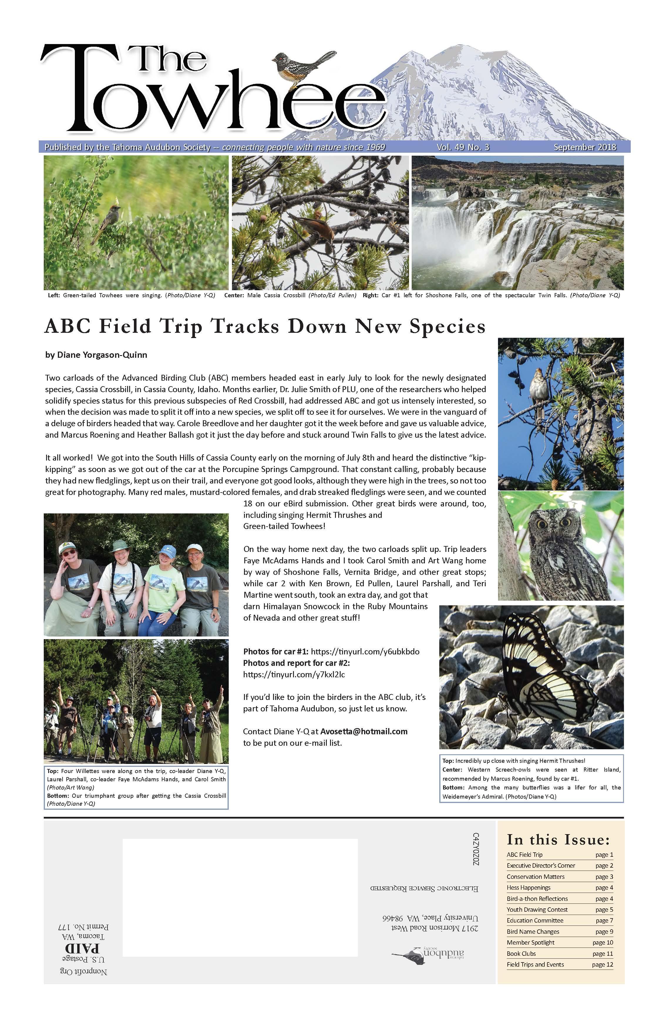 Tacoma Audubon Newspaper