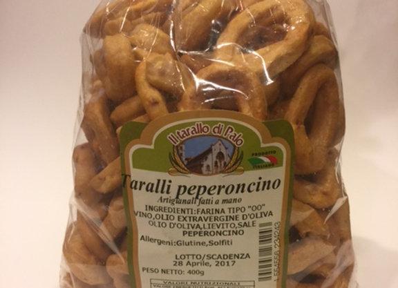 Nonna's Peperoncino (Hot Chili Pepper) Taralli