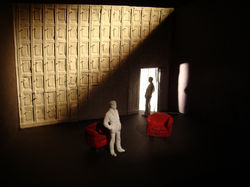 Theoretical design for 'A Number' by Caryl Churchill