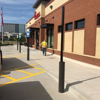 Parking Lot Signage and Bollards 2 (Serv
