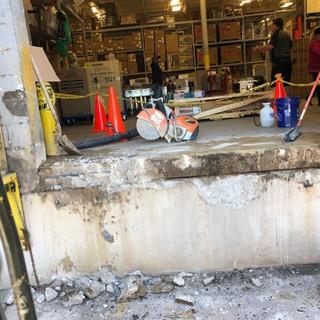 Dock Leveler Concrete Repair Before (Ser