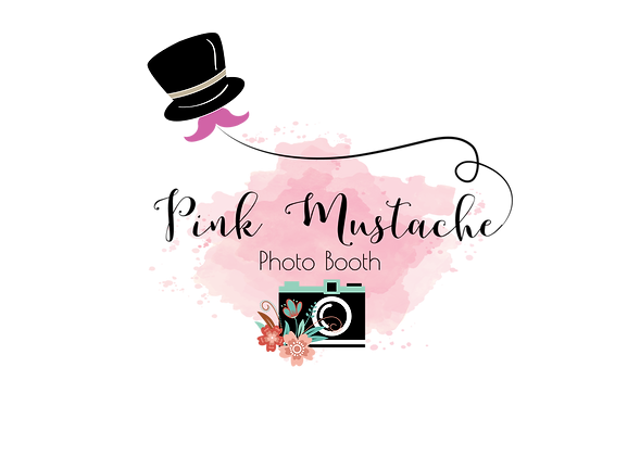 Pink Mustache Photo Booth Logo