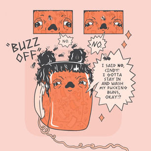 """Buzz Off"", A Mindy Marmalade Comic"