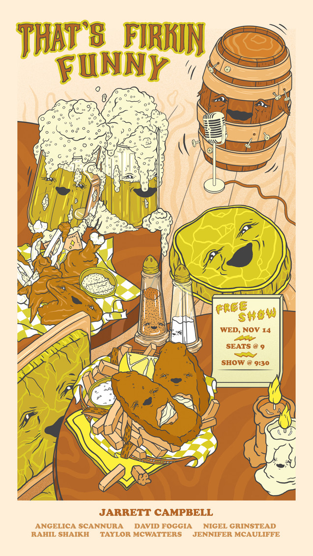 That's Firkin Funny Event Poster