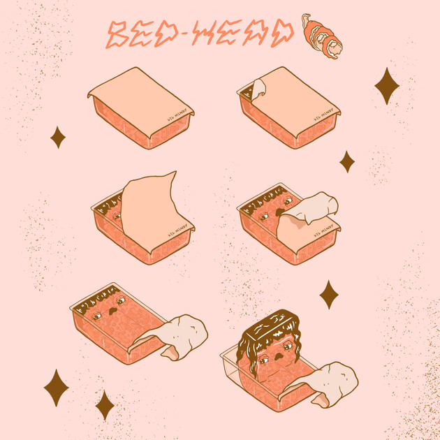 """""""Bed-Head"""" Page 1/2, A Mindy Marmalade Comic"""