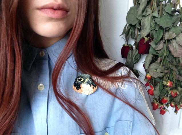 Peregrine Falcon Pin