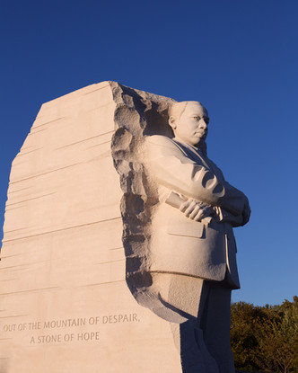 Statue at the Martin Luther King memoria