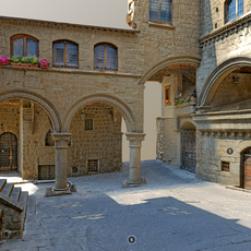 Old French Courtyard