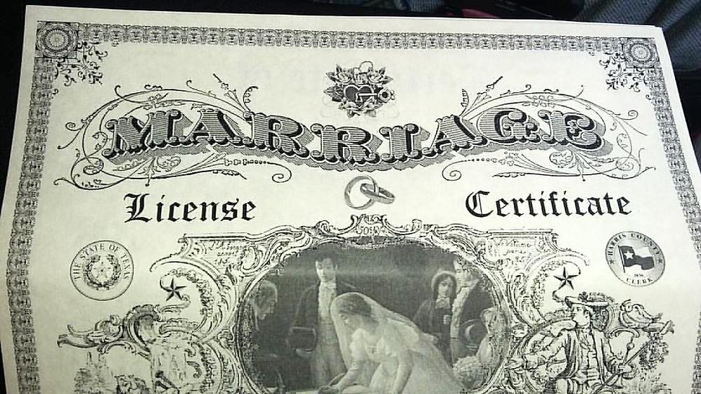Marriage License (credit Shadow Byrd)