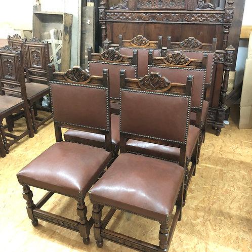 6 gepolsterte Stühle