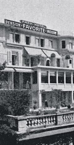 Parkhotel Favorite um 1914