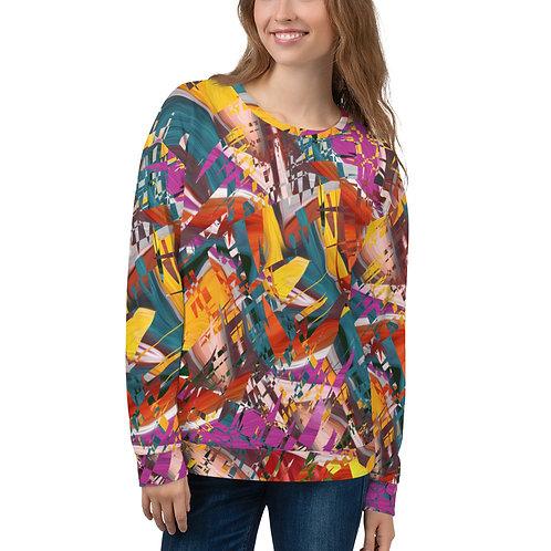 Chopped Abstract Multicolored Unisex Sweatshirt