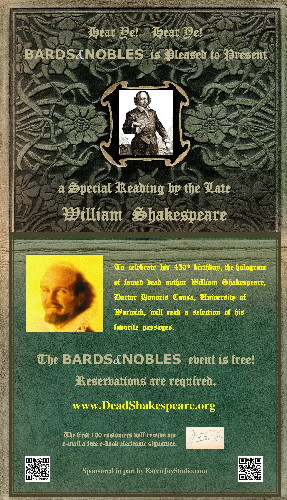 Requiem for the Book: Dead Shakespeare Flyer
