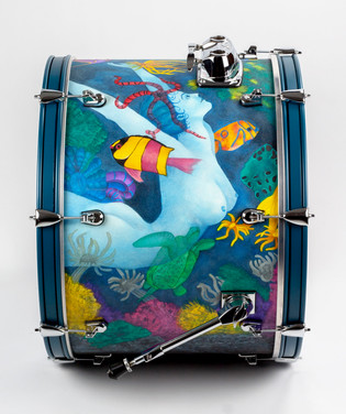 Ladies of the Ocean-Bass Drum-Detail Left
