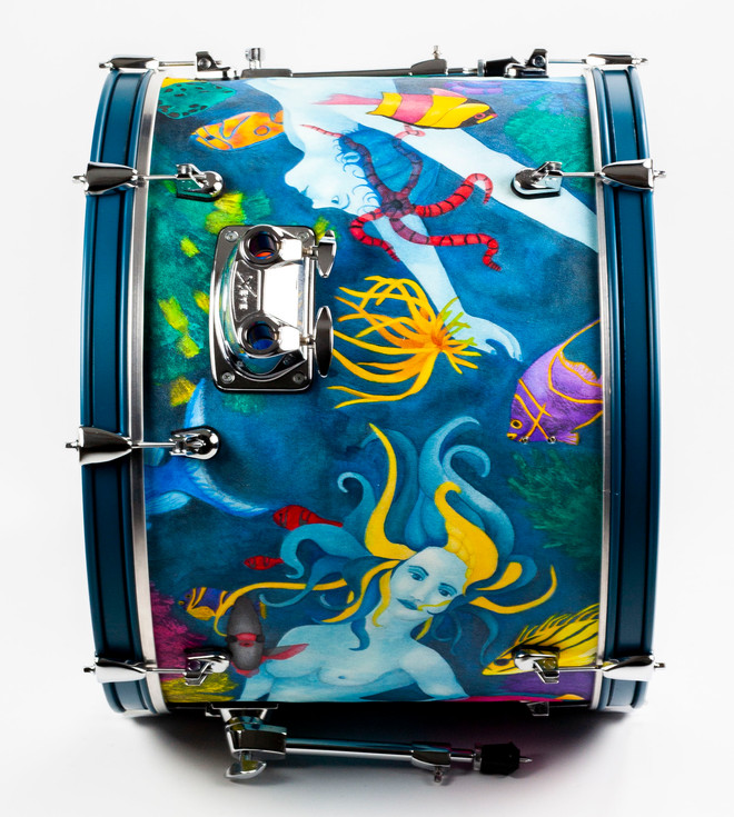 Ladies of the Ocean-Bass Drum Detail-Top