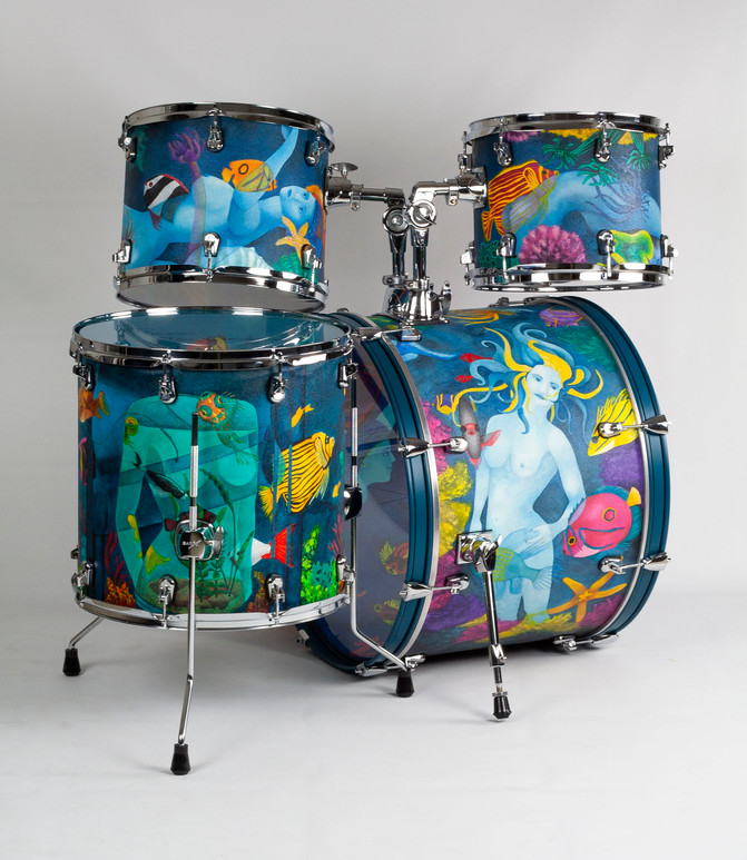 Ladies of the Ocean-Bass Drum Detail-Left