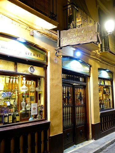 Bodegas Castaneda Granada at night.jpg