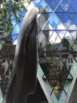 Jaume Plensa sculpture Gherkin London