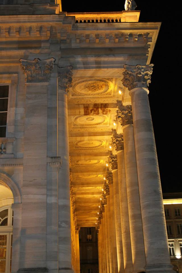 Grand Theatre Bordeaux at night