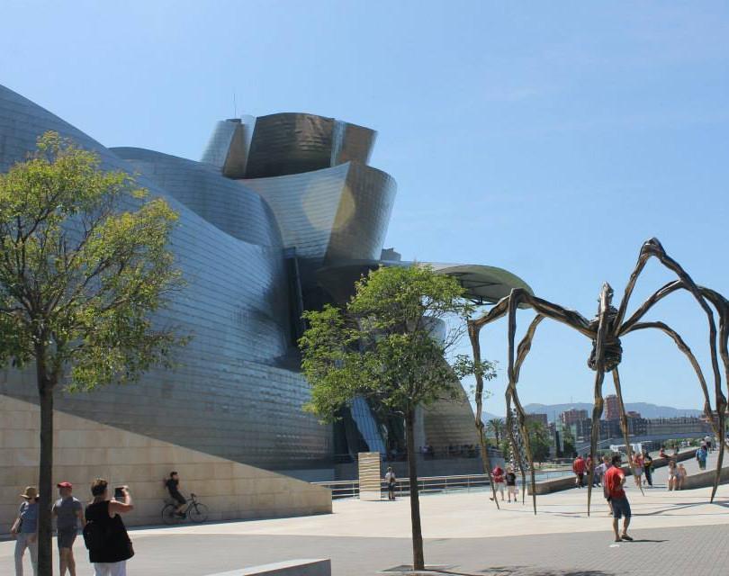 Guggenheim Bilbao with Louise Bourgeois
