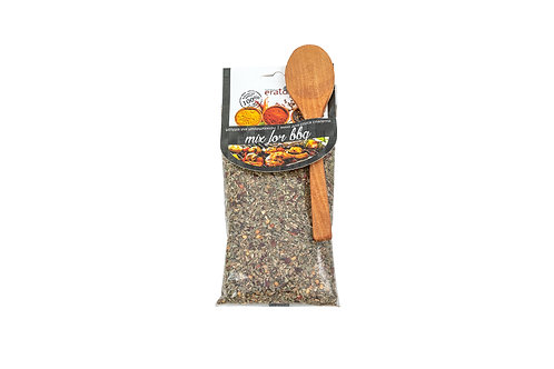BBQ mix with spoon