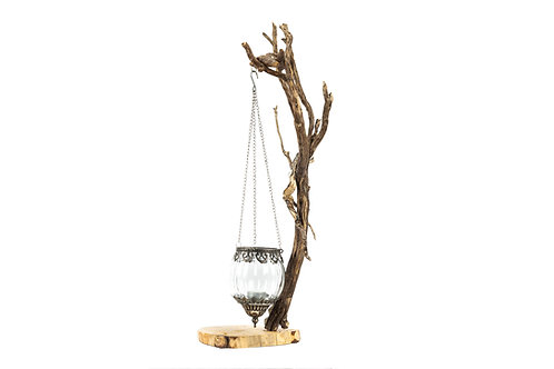 Driftwood and pine tree candle