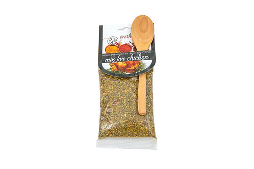 Chicken mix with spoon