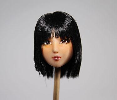 カスタムドールヘッド 製作代行 髪の整髪
