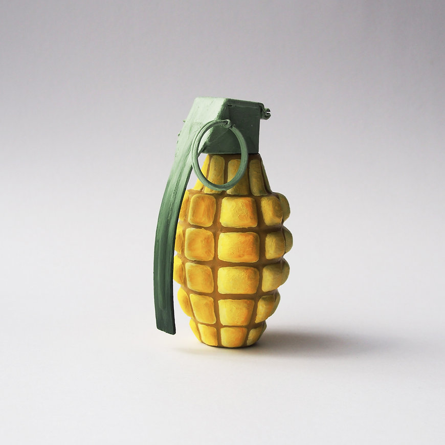 MdeP-Feed-Mais-Corn-Grenade-Sculpture-Co