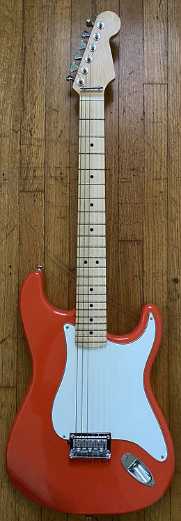 Fiesta Red/Wht Hard Tail, Wide Neck- Free Shipping in USA