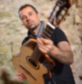 Ben Woods Spanish Flamenco guitar player Nylocaster album artist