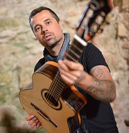 Ben Woods Spanish Flamenco guitar player Nylocaster album artist