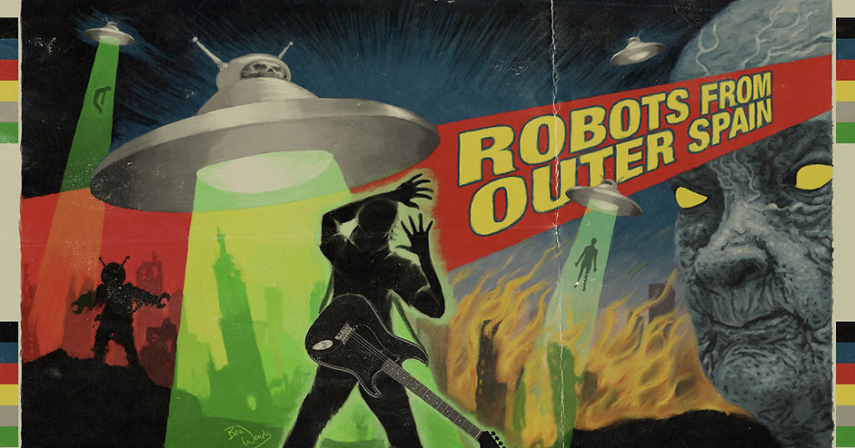 Ben Woods Robots from Outer Spain Album art painting