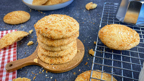 Eggless Coconut Cookies | Kobbri Biscuit