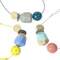 Geo Blok Three Component Necklace