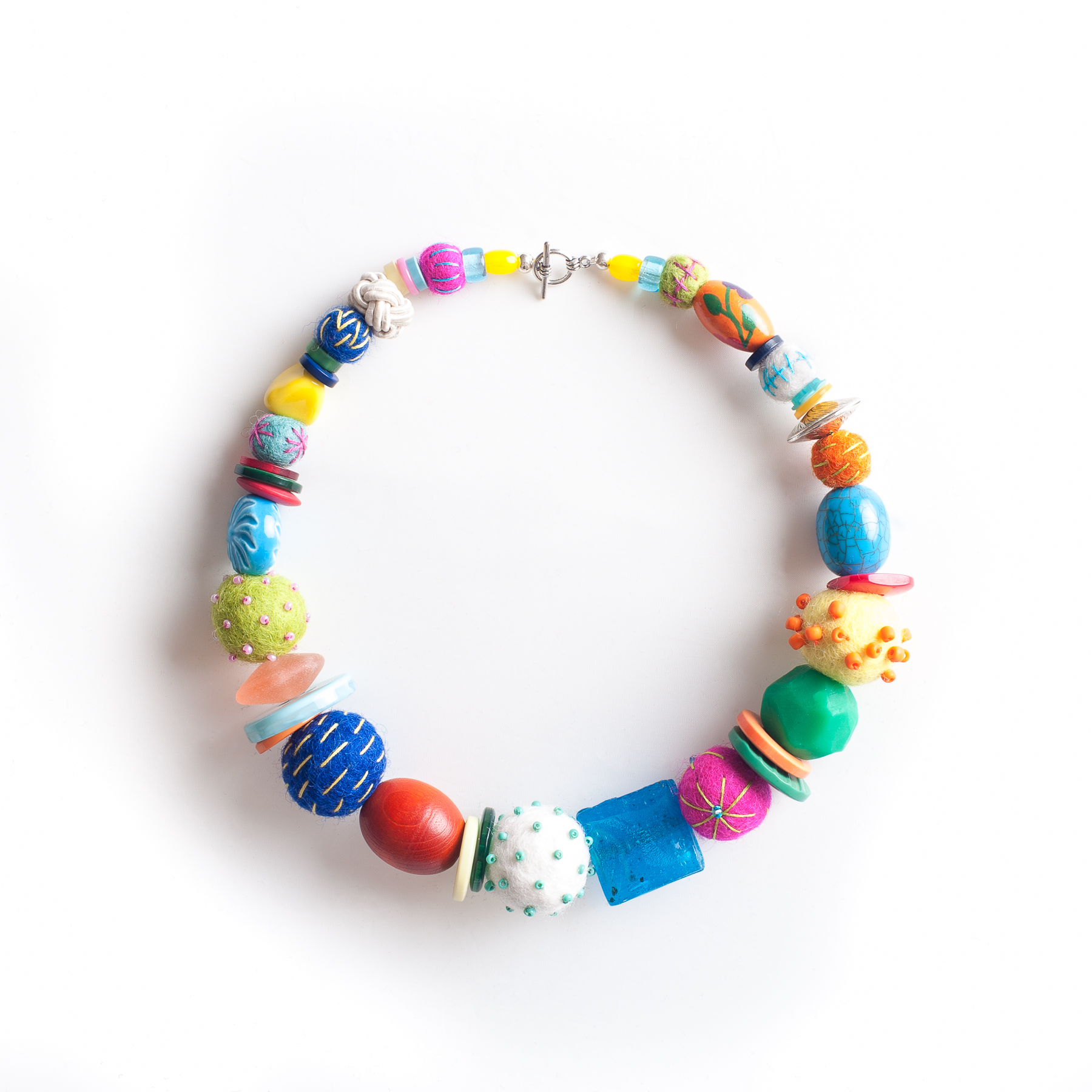 Chunky Felt Bead Necklace