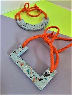 Moulded Forms Blue Necklaces