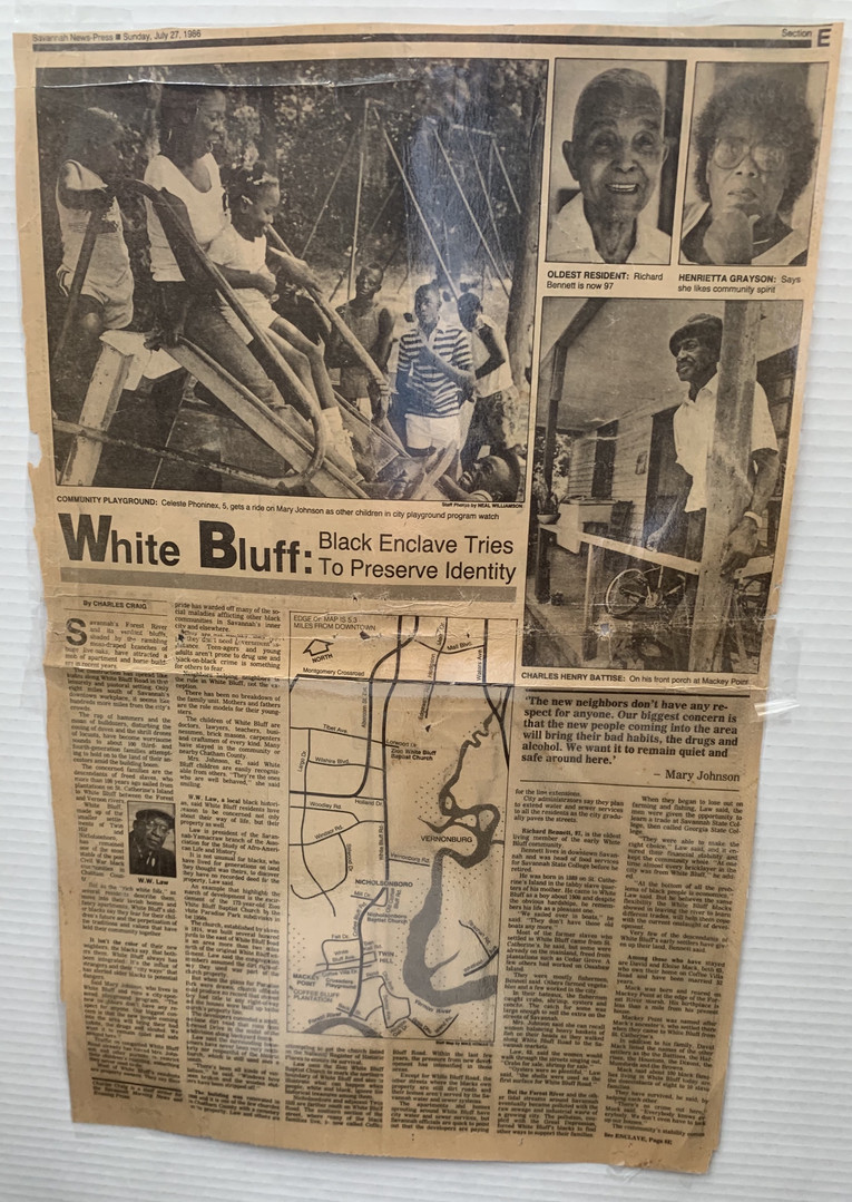 Savannah News-Press Paper   July 27, 1986