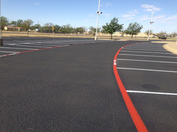 parking lot seal and stripe