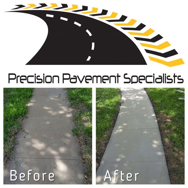 repairing sidewalk